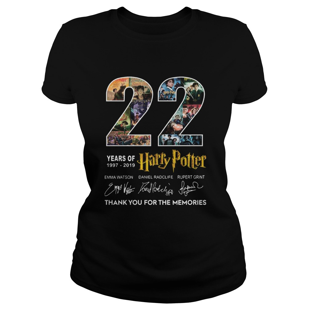 22 Years Of 19772019 Harry Potter Thank You For The Memories  Classic Ladies