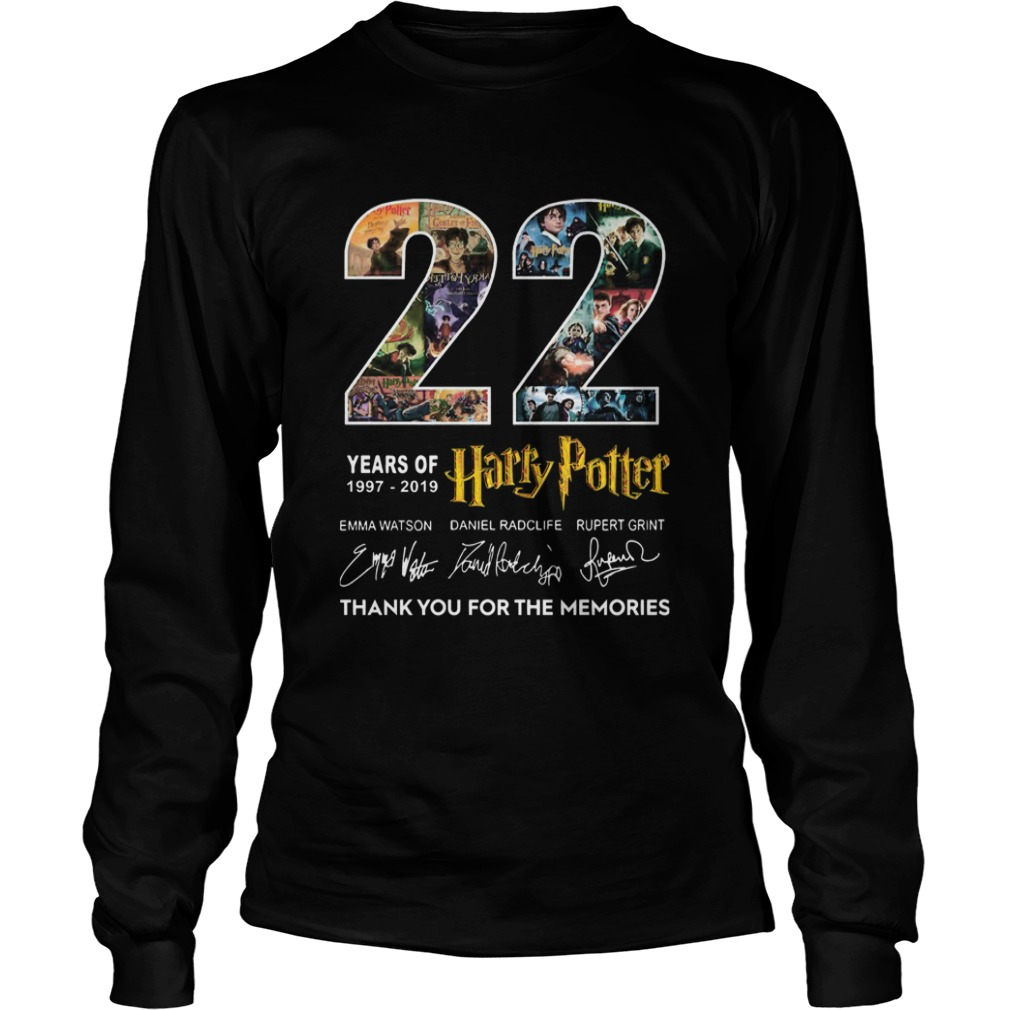 22 Years Of 19772019 Harry Potter Thank You For The Memories  LongSleeve