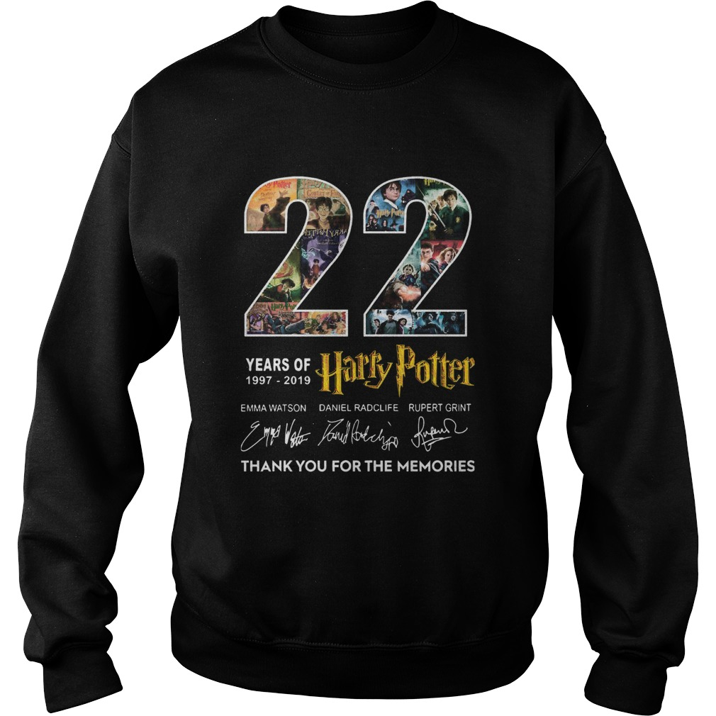 22 Years Of 19772019 Harry Potter Thank You For The Memories  Sweatshirt