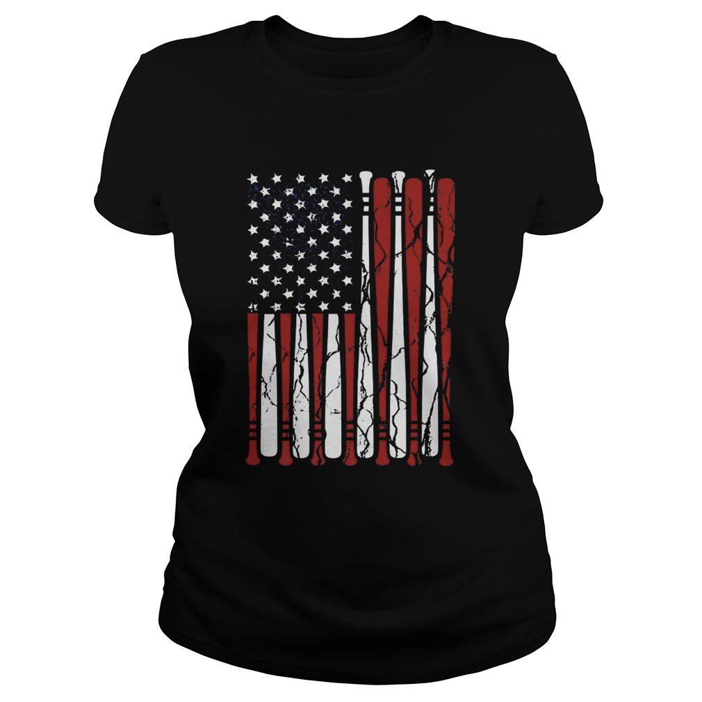 American Flag baseball bat 4th Of July  Classic Ladies