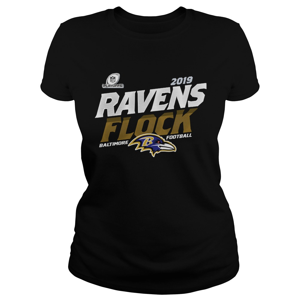 Baltimore Ravens Football Flock 2019 NFL Playoffs  Classic Ladies