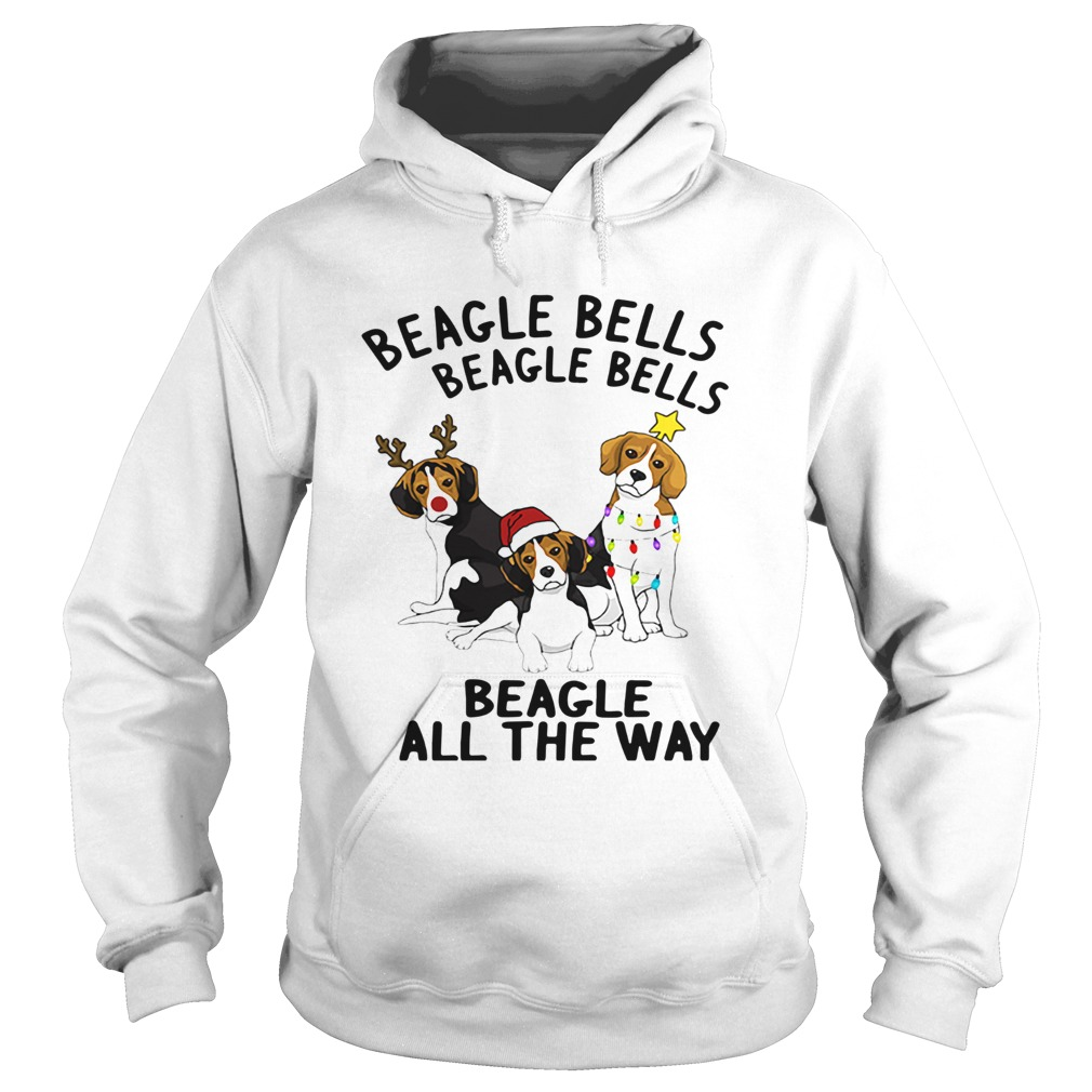 Beagle Bells Beagle All The Way Christmas  Hoodie