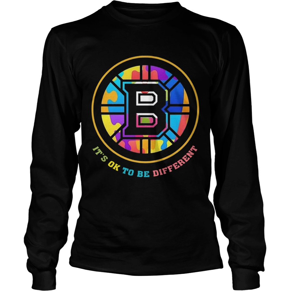 Boston Bruins Its Ok To Be Different  LongSleeve