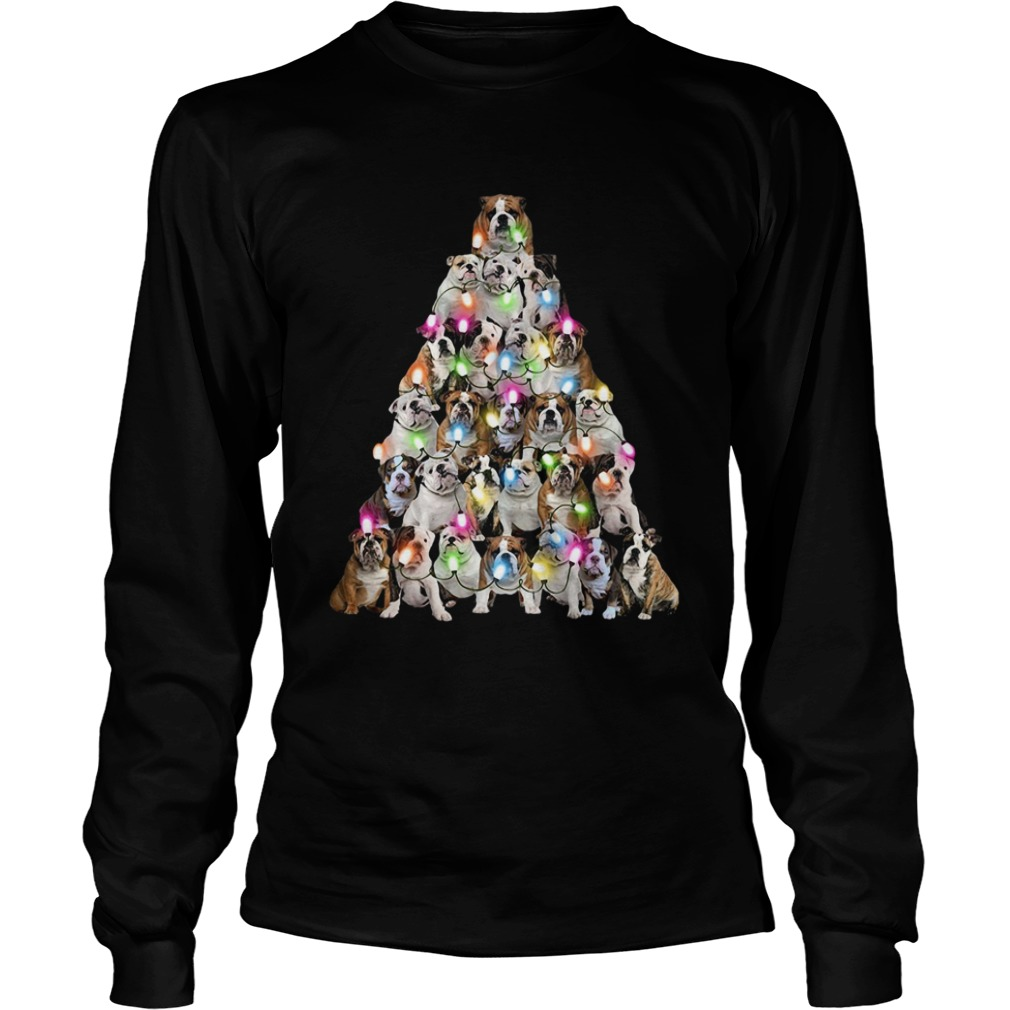 Bulldog Christmas Tree  LongSleeve