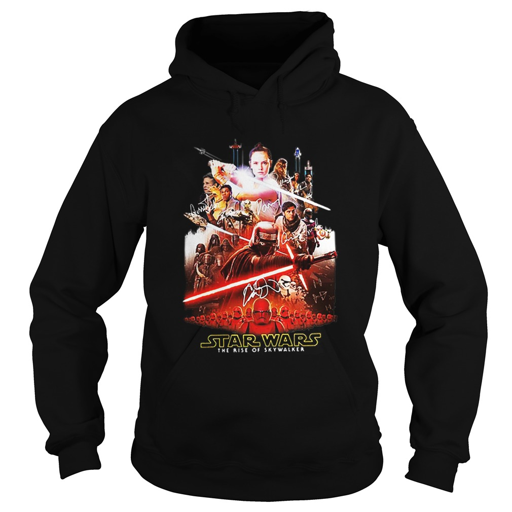 Characters Star Wars The Rise Of Skywalker Signatures  Hoodie