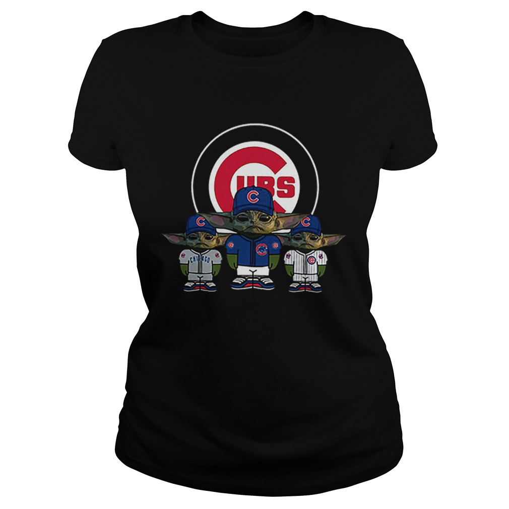 Chicago Cubs Baby Yoda  Classic Ladies