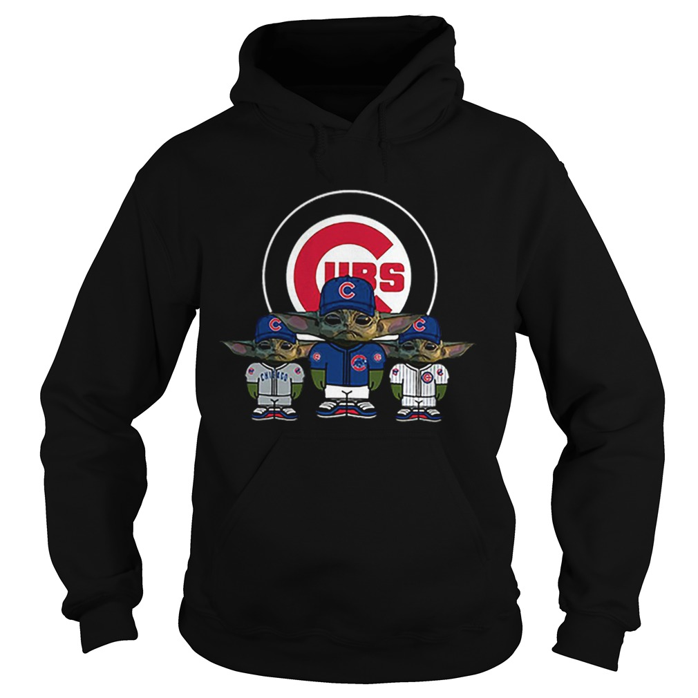 Chicago Cubs Baby Yoda  Hoodie