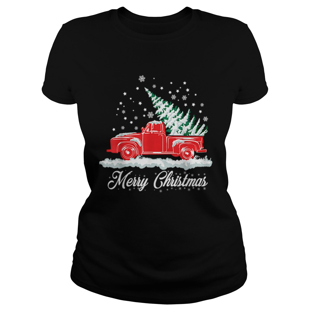 Christmas Classic Old Red Truck Classic XMAS Tree  Classic Ladies