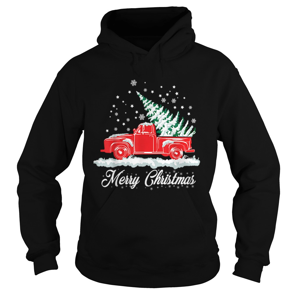 Christmas Classic Old Red Truck Classic XMAS Tree  Hoodie