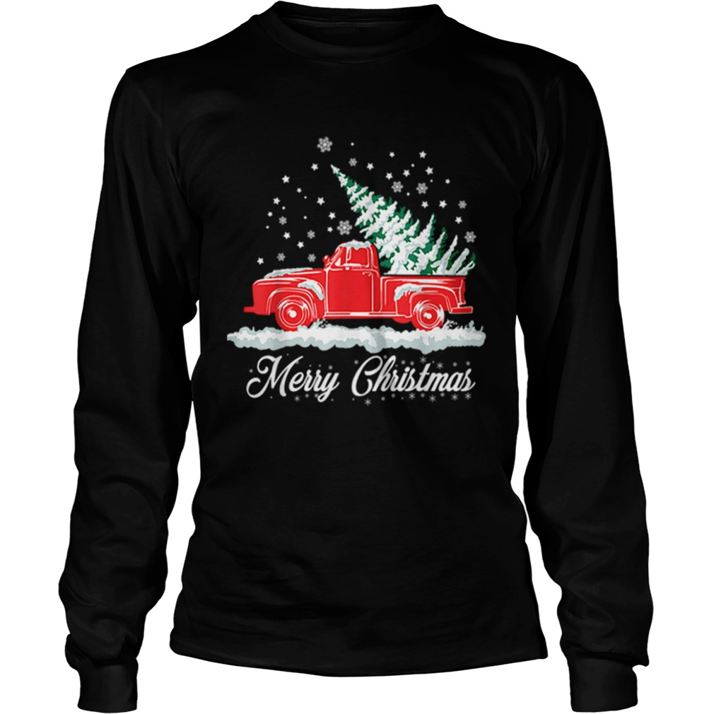 Christmas Classic Old Red Truck Classic XMAS Tree  LongSleeve