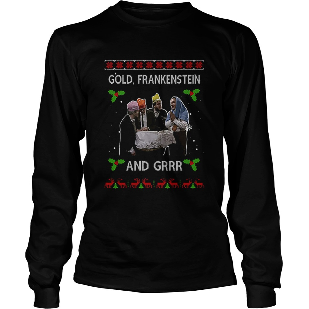 Gold Frankenstein and grrr Ugly Xmas Christmas  LongSleeve