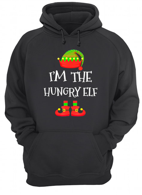 I'M THE Hungry ELF Christmas Xmas Funny Elf Group Costume  Unisex Hoodie