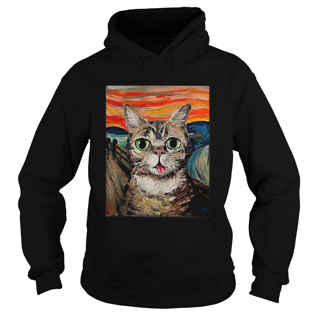 Lil Bub The Scream Vincent Van Gogh  Hoodie
