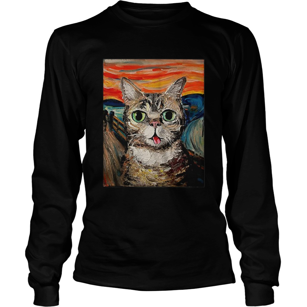 Lil Bub The Scream Vincent Van Gogh  LongSleeve