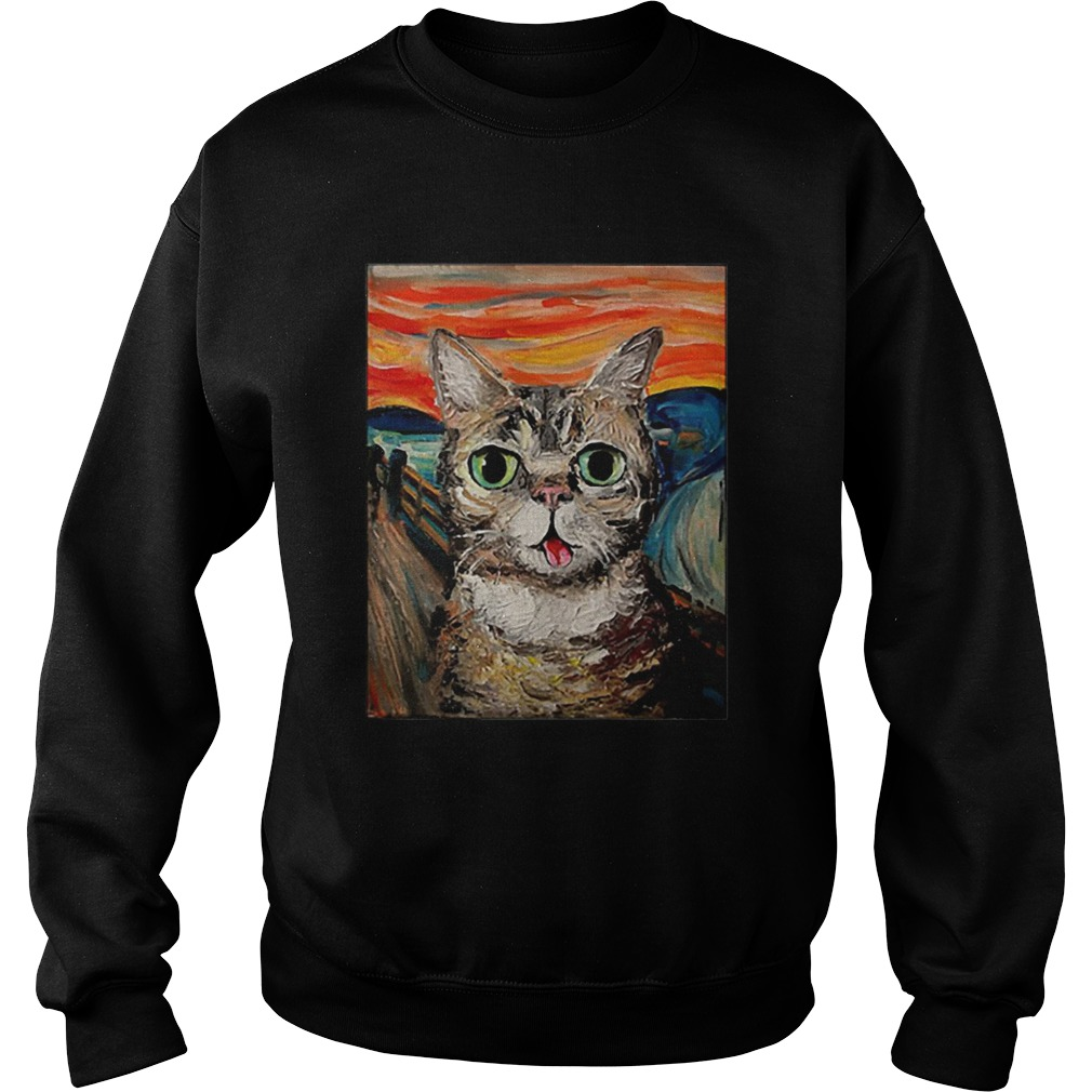 Lil Bub The Scream Vincent Van Gogh  Sweatshirt