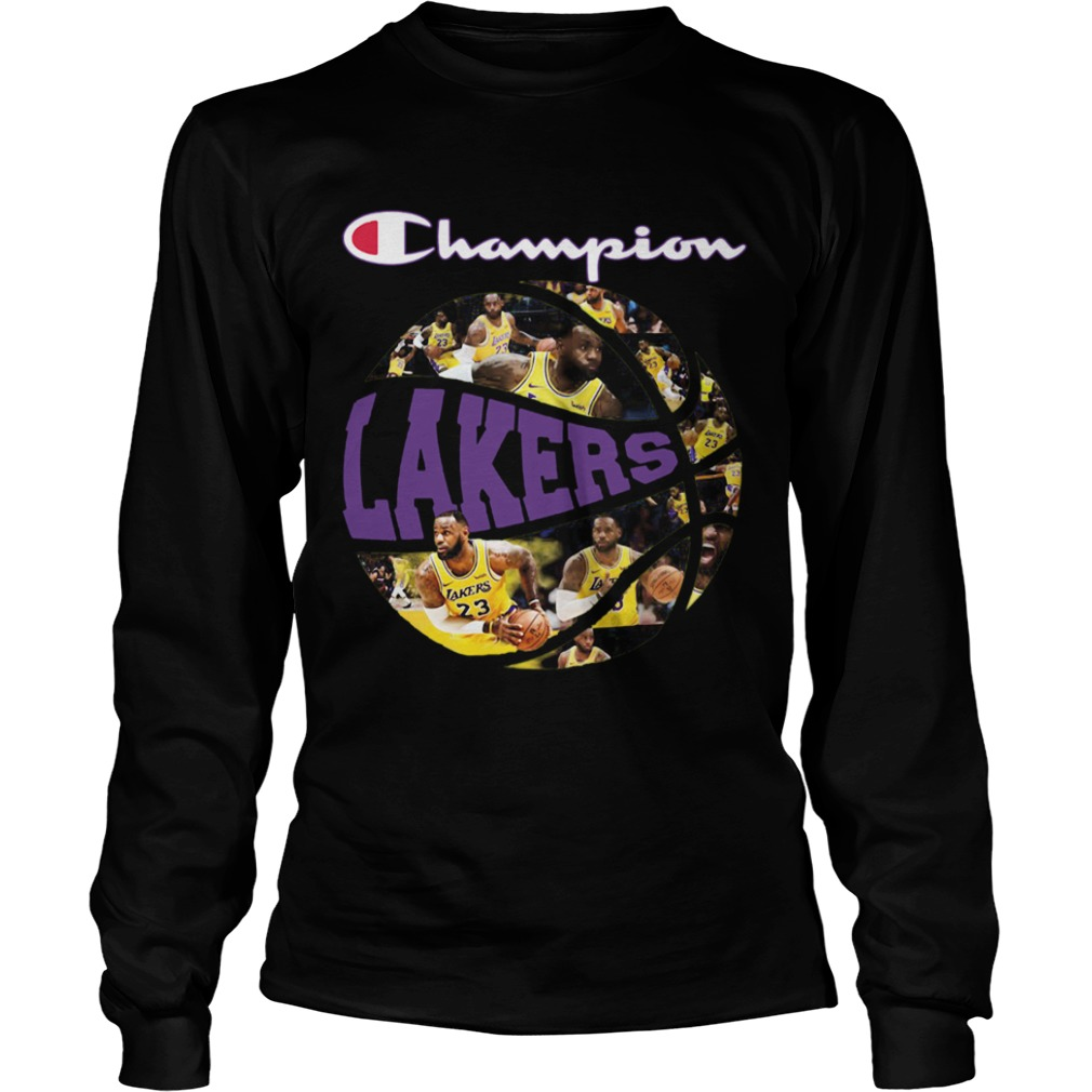 Los Angeles Lakers champion players ball  LongSleeve