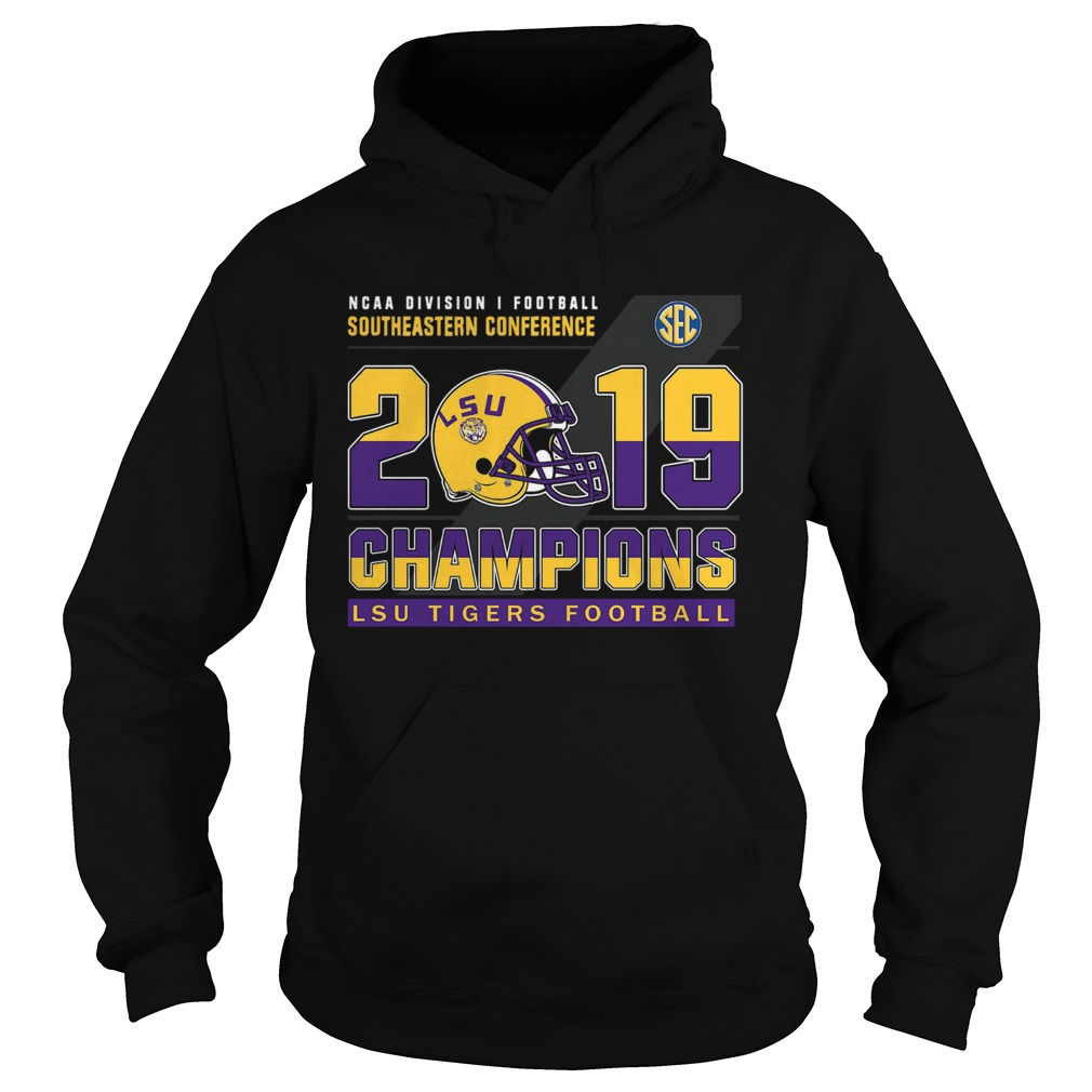LSu Tigers Football Ncaa division football southeastern conference 2019 champions  Hoodie
