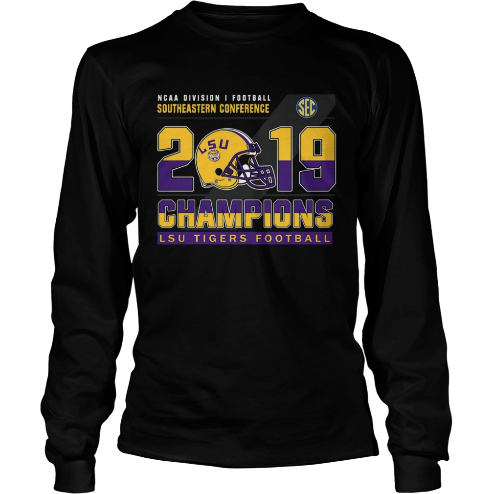 LSu Tigers Football Ncaa division football southeastern conference 2019 champions  LongSleeve