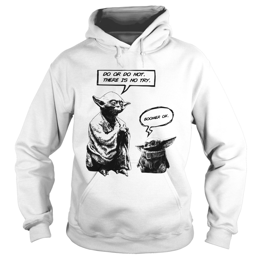 Master Yoda do or do not there is not try Baby Yoda boomer ok  Hoodie