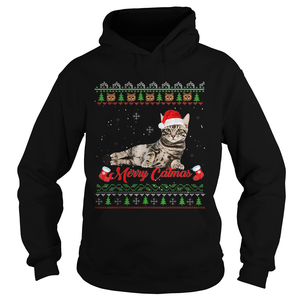 Merry Catmas Ugly Christmas  Hoodie