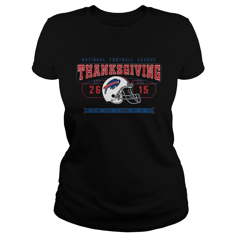 National Football League Thanksgiving Buf Dal 2615  Classic Ladies