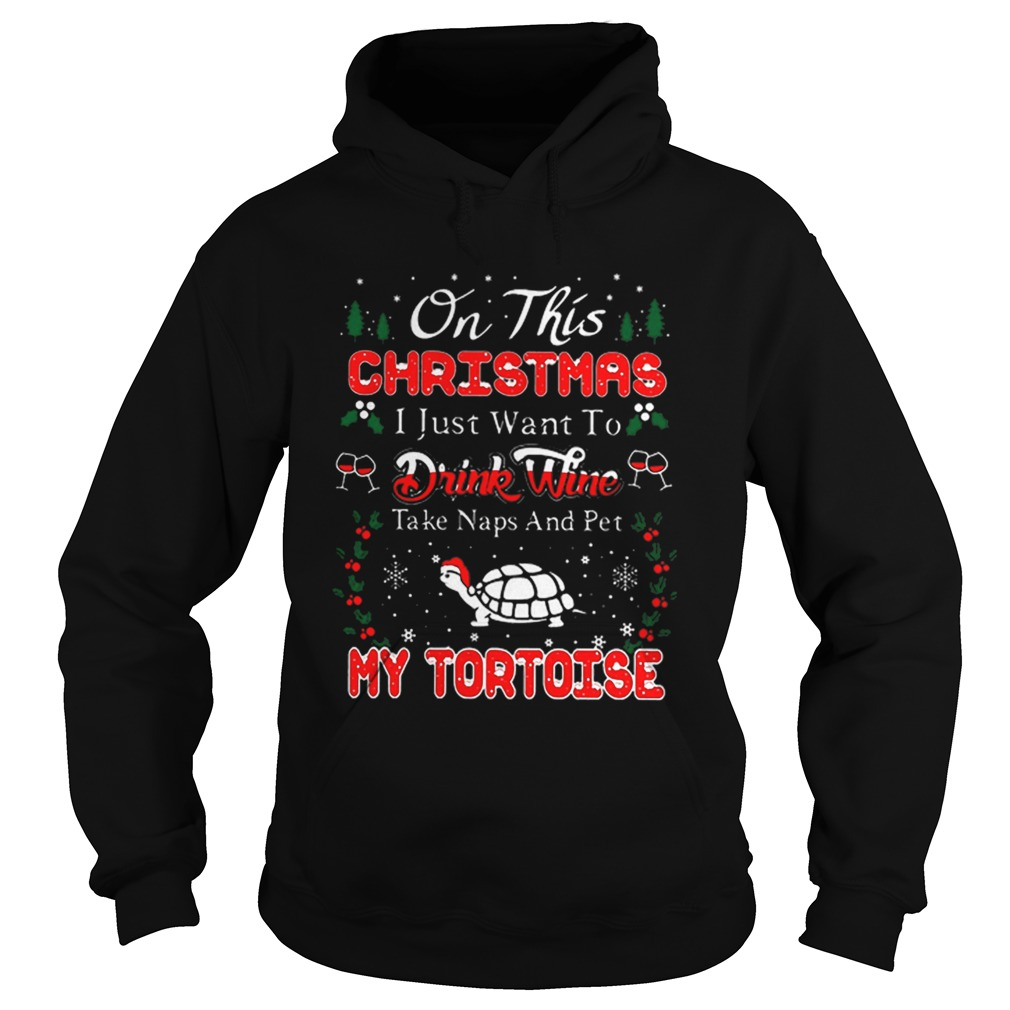 Oh this christmas i just want to drink wine naps pet my tortoise  Hoodie