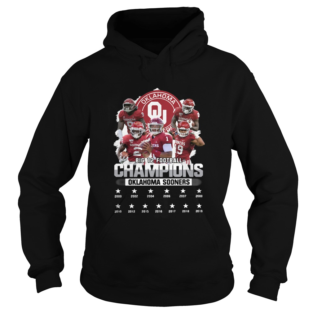 Oklahoma Sooners Big 12 Football Champions Player  Hoodie
