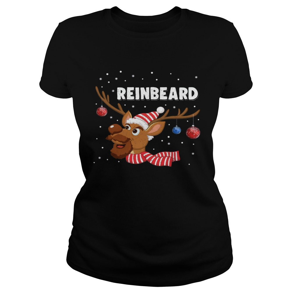 Reinbeard Reindeer Beard Lover Christmas  Classic Ladies