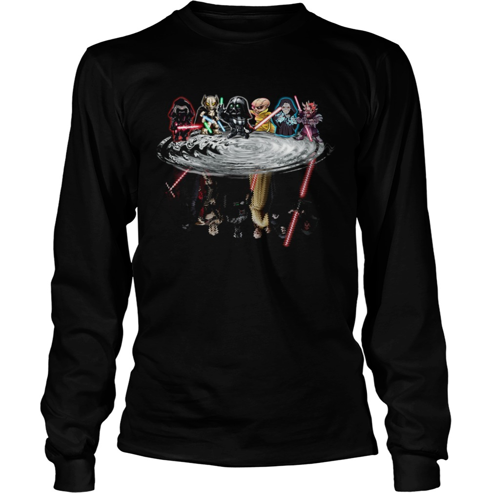 Star Wars Chibi Characters Water Reflections  LongSleeve