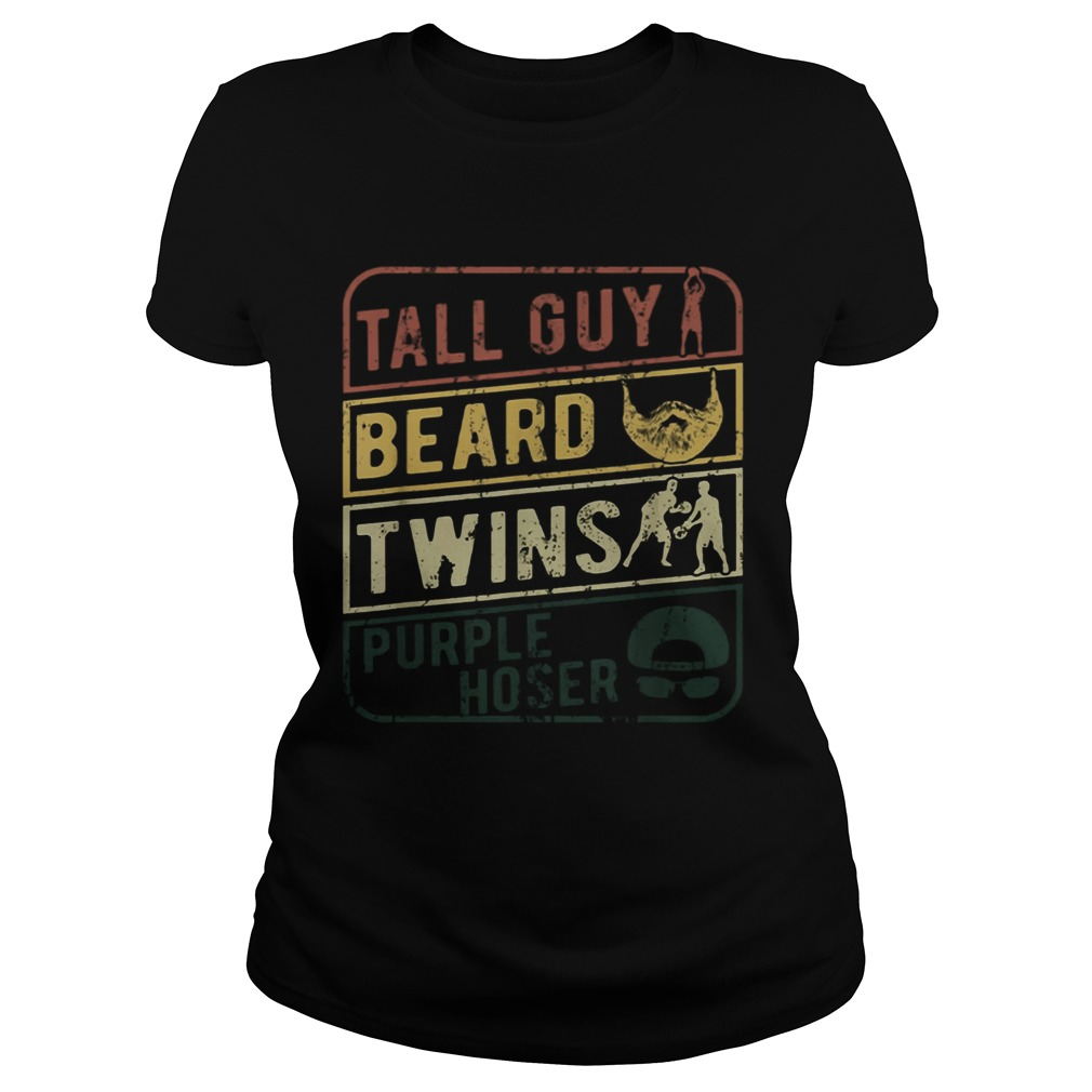 TALL GUY BEARD TWINS PURPLE HOSER  Classic Ladies