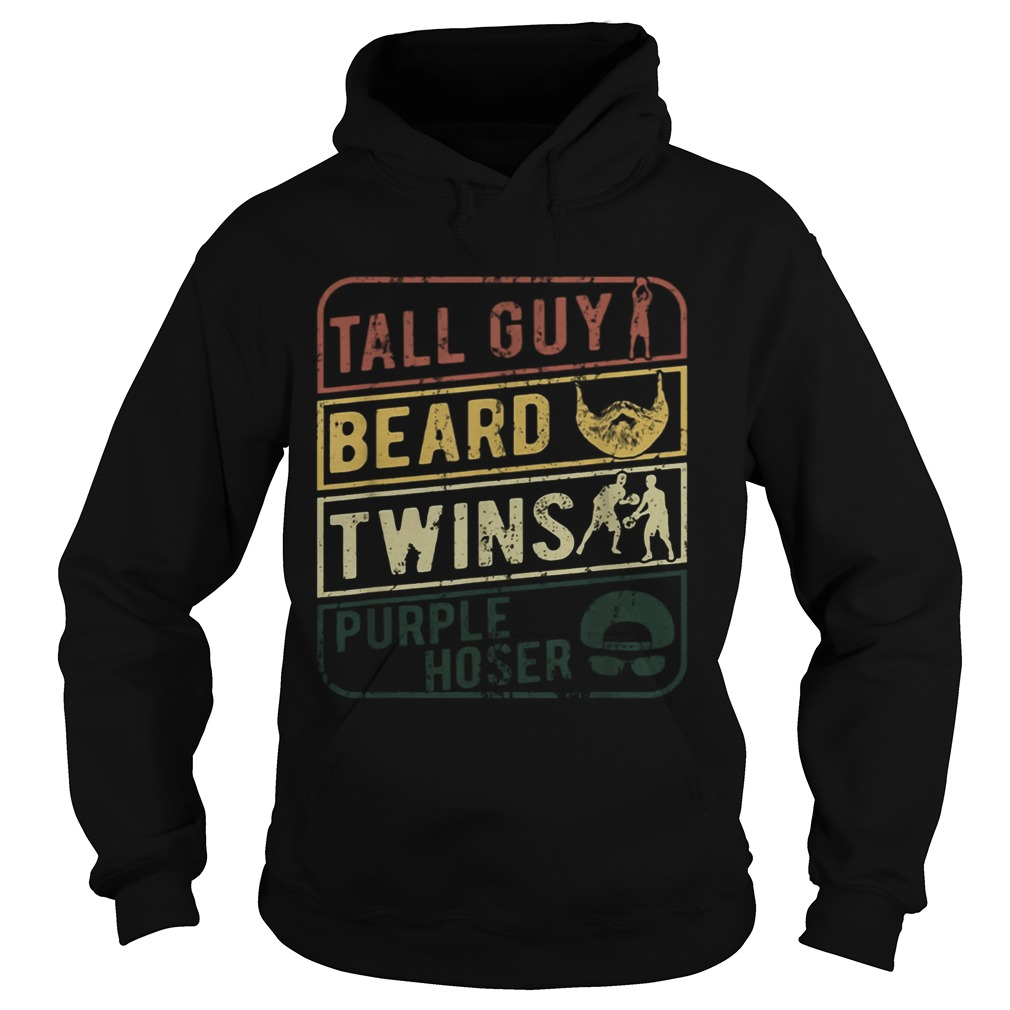 TALL GUY BEARD TWINS PURPLE HOSER  Hoodie