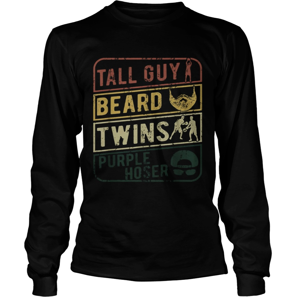 TALL GUY BEARD TWINS PURPLE HOSER  LongSleeve