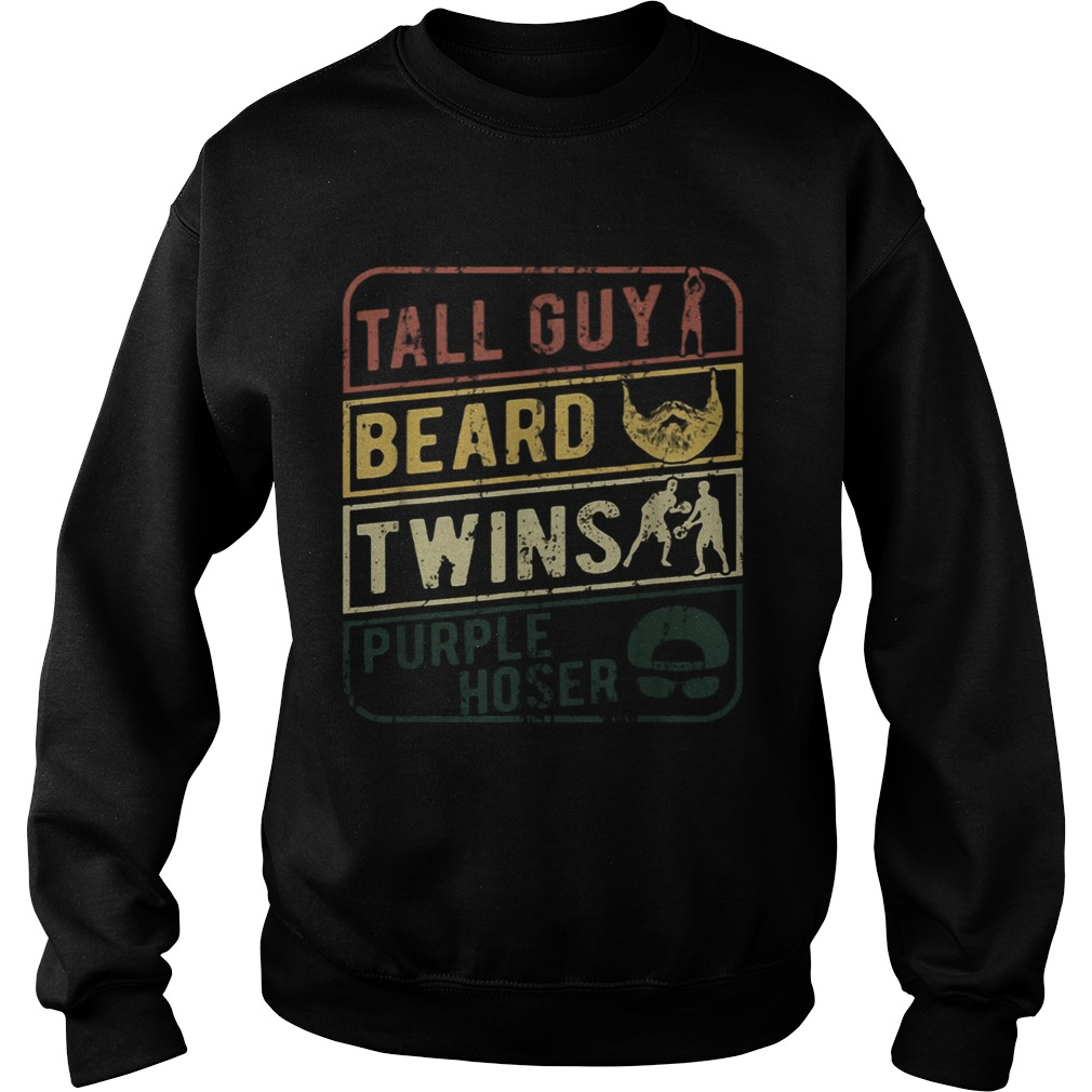 TALL GUY BEARD TWINS PURPLE HOSER  Sweatshirt