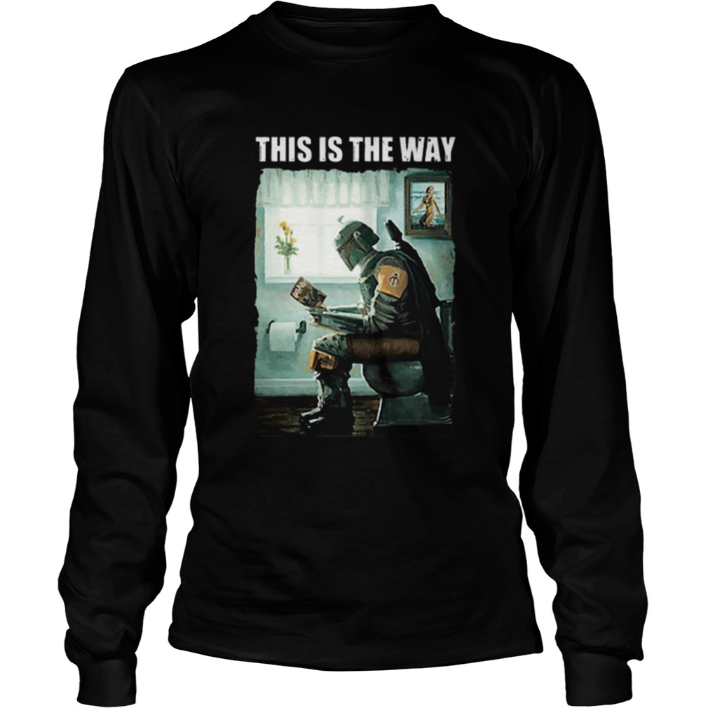 The Mandalorian this is the way reading Harry Potter  LongSleeve