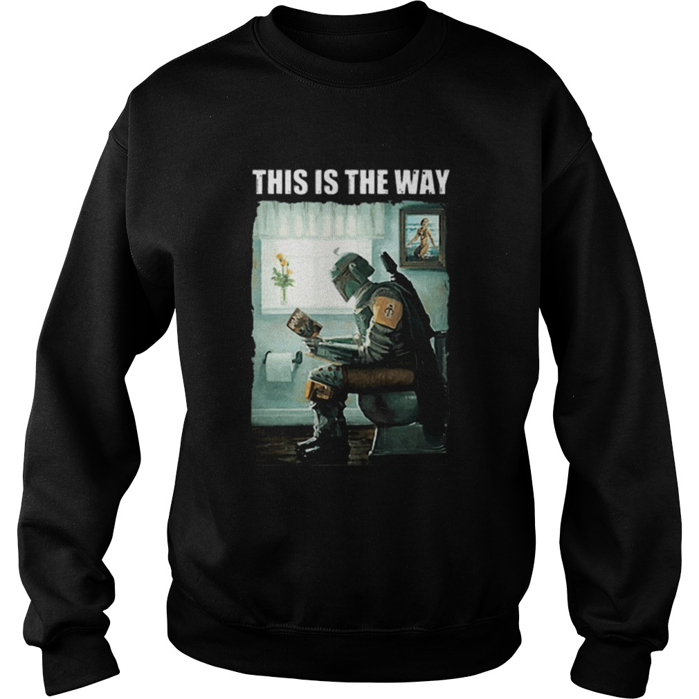 The Mandalorian this is the way reading Harry Potter  Sweatshirt