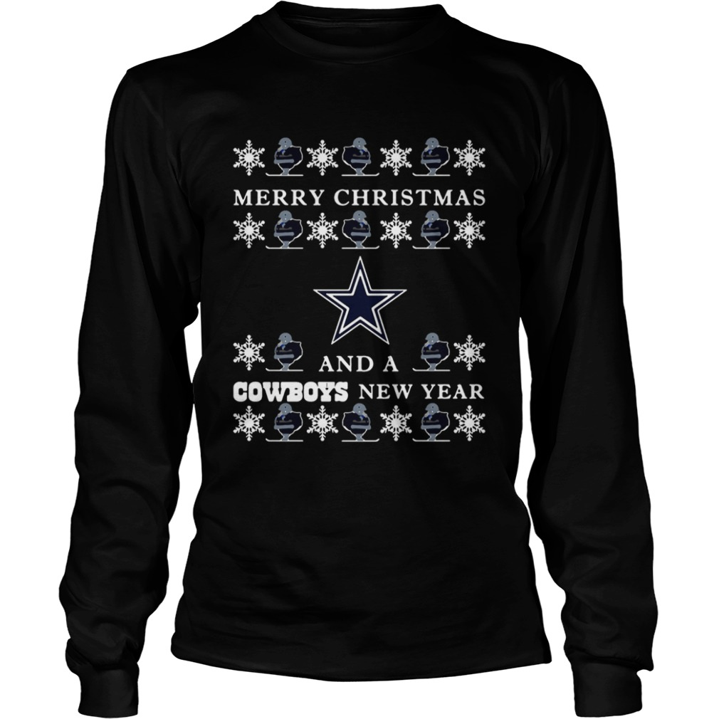 Ugly Merry Christmas and Dallas Cowboys  LongSleeve