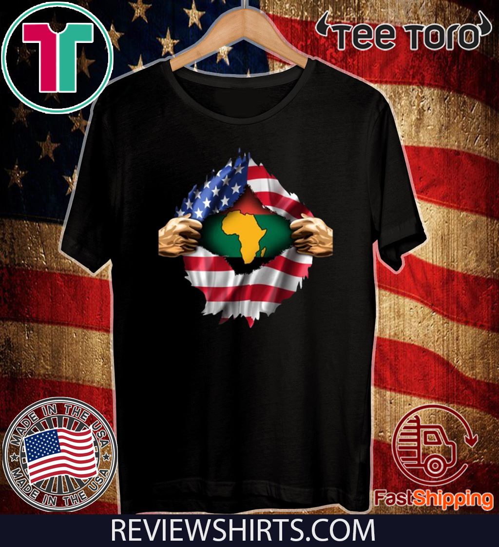 African Blood Inside My American US T-Shirt
