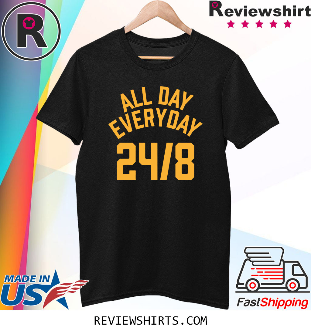 All Day Everyday 24 8 Hoops Legend T-Shirt RIP Kobe