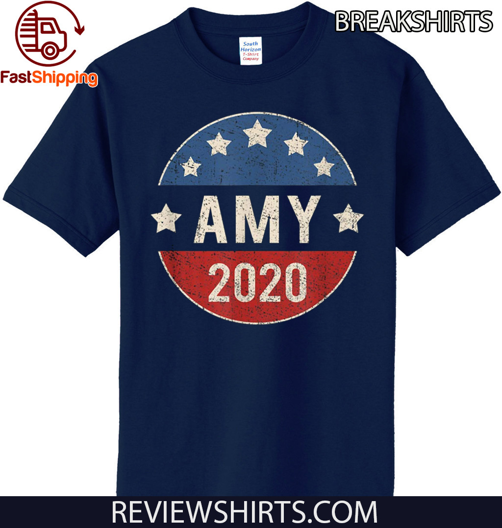 Amy Klobuchar For President 2020 Retro Election Button Tee Shirt