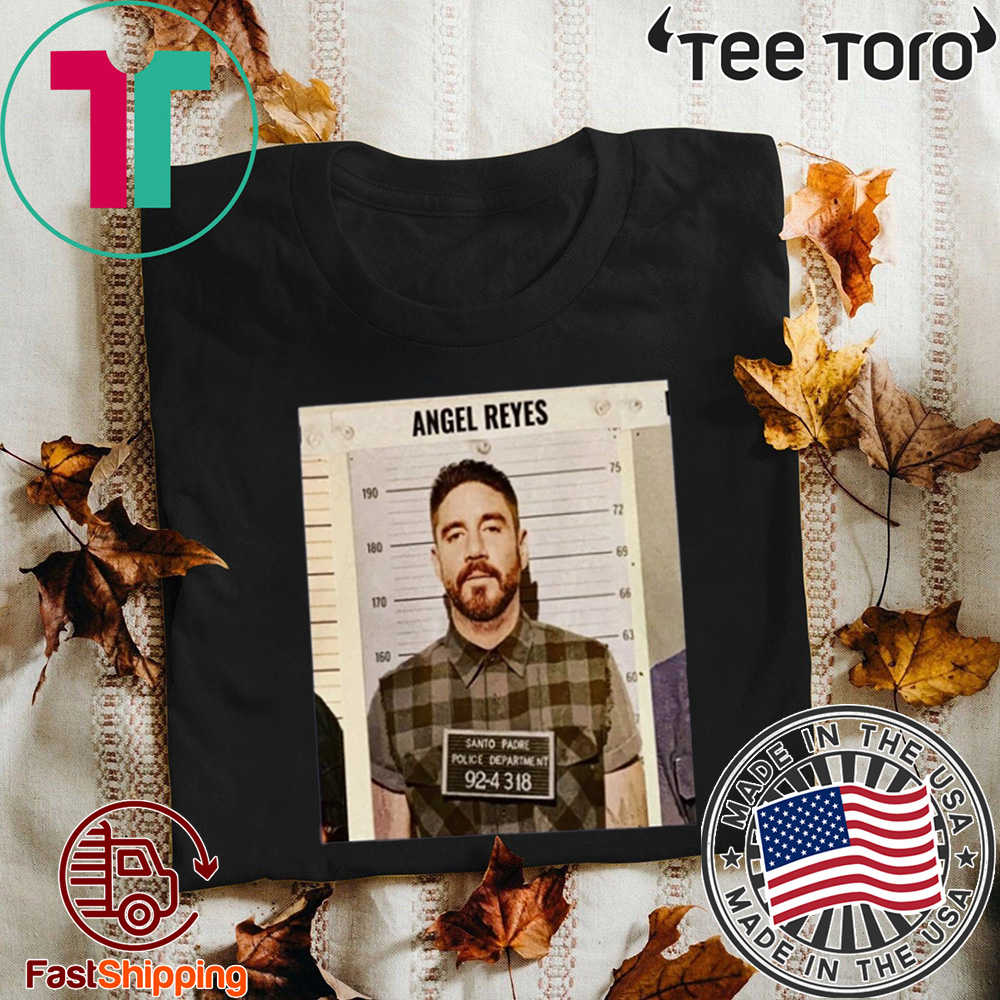 ANGEL REYES SHIRT SANTO PADRE POLICE DEPARTMENT 92-4318 OFFICIAL T-SHIRT