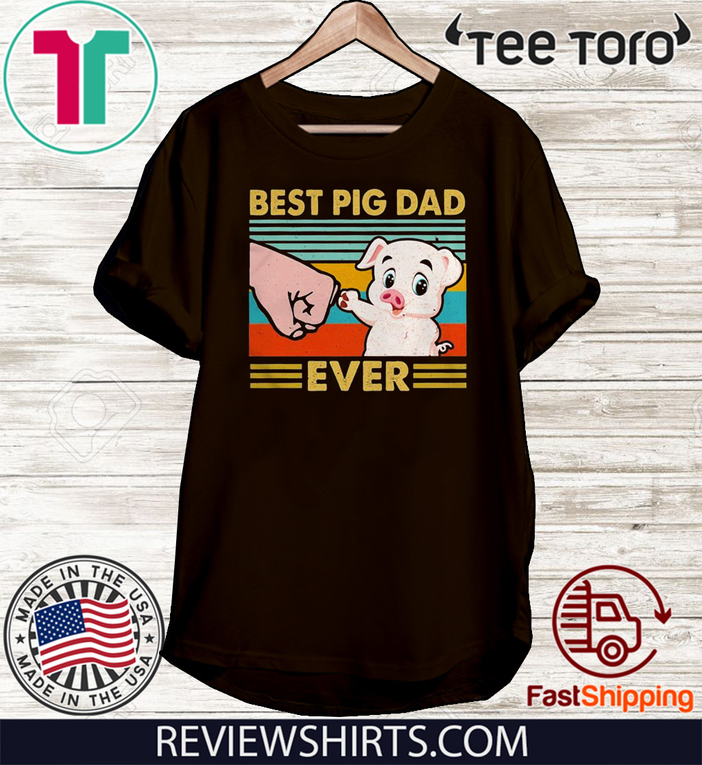 Best pig dad ever sunset IF Tee Shirt