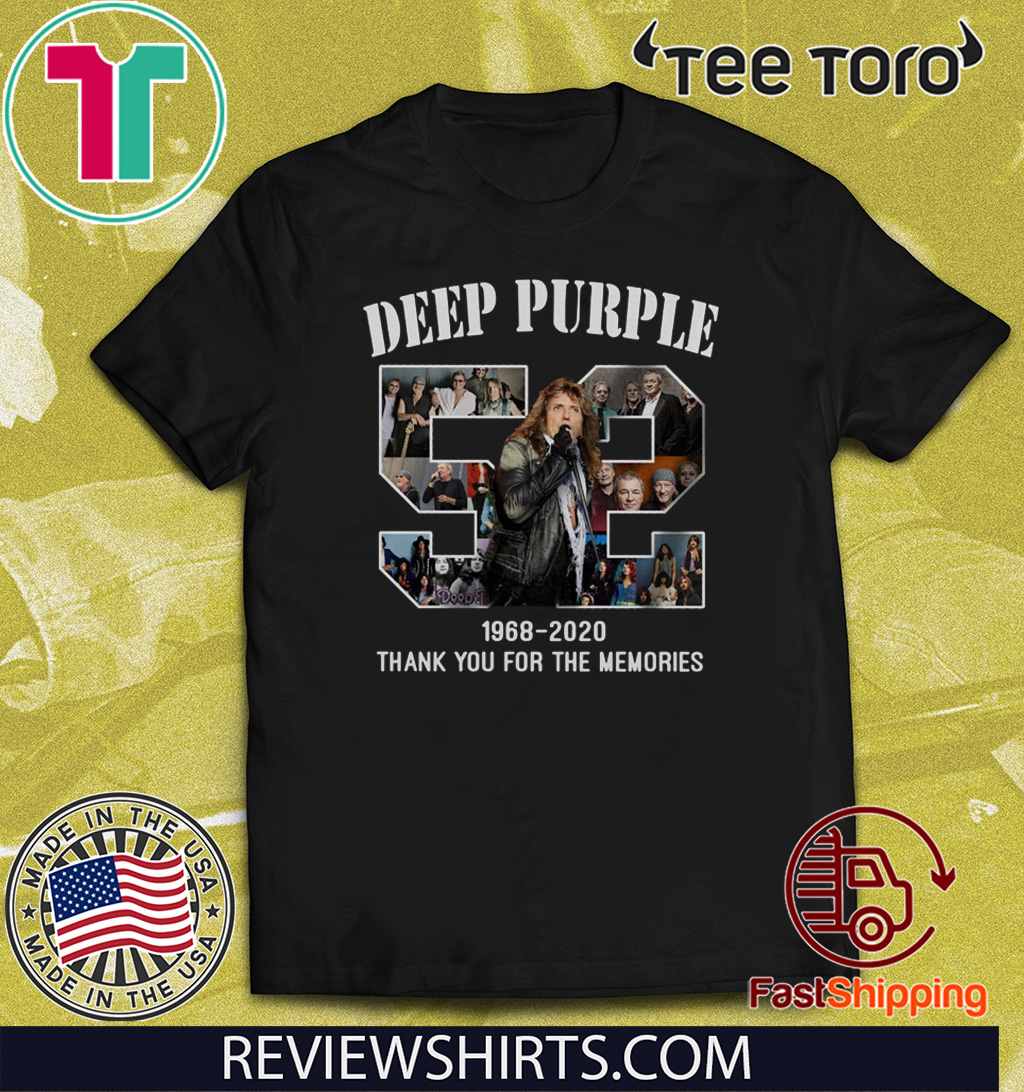 Deep Purple 1968 – 2020 Thank You For The Memories Shirts