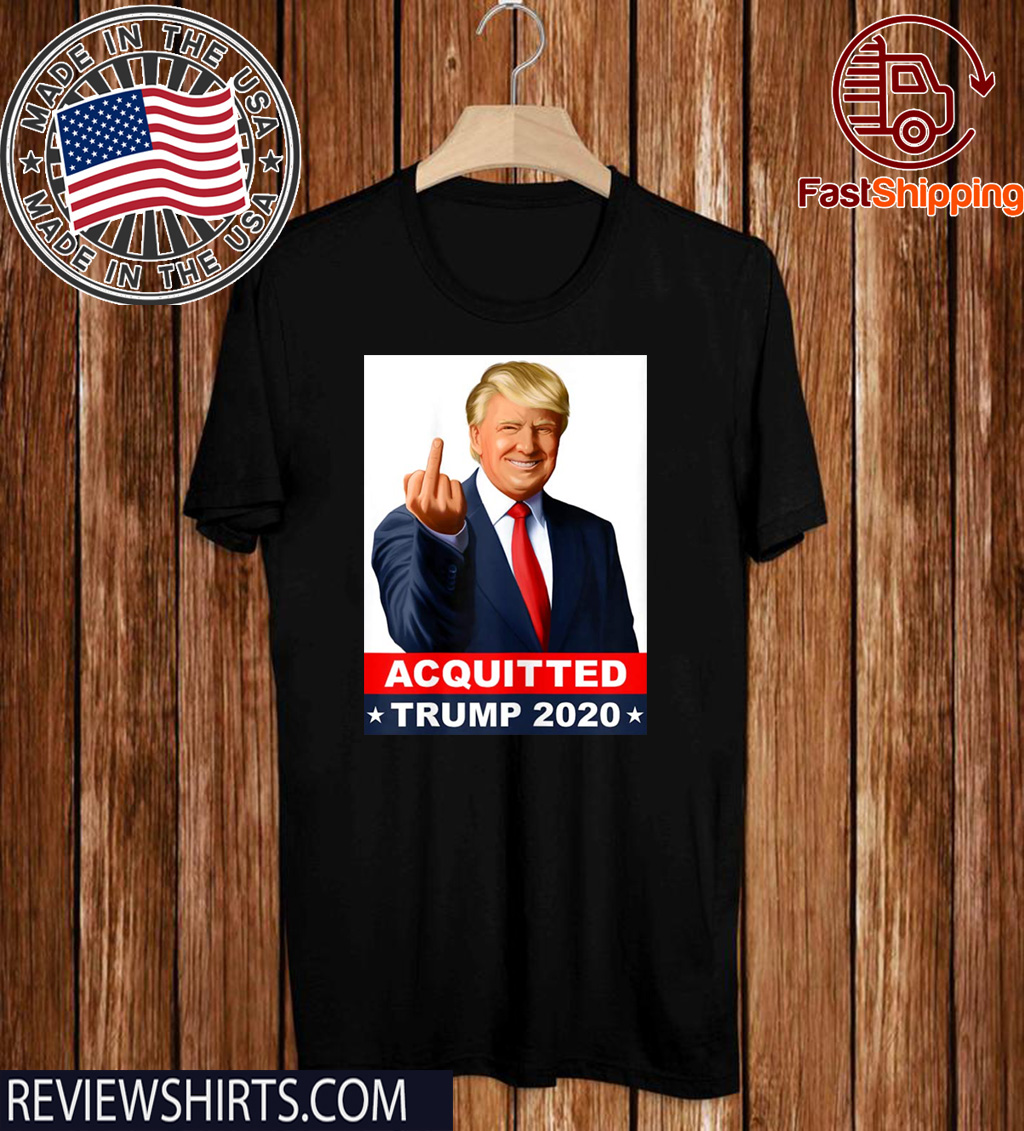 Donald Trump 2020 Acquitted Anti-Impeachment Acquittal Victory Pro-Trump T-Shirt