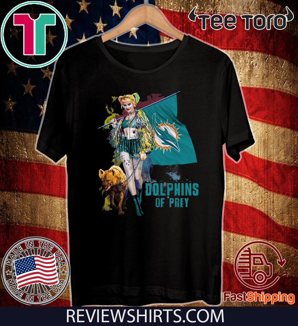 Harley Quinn Miami Dolphins Of Prey Official T-Shirt