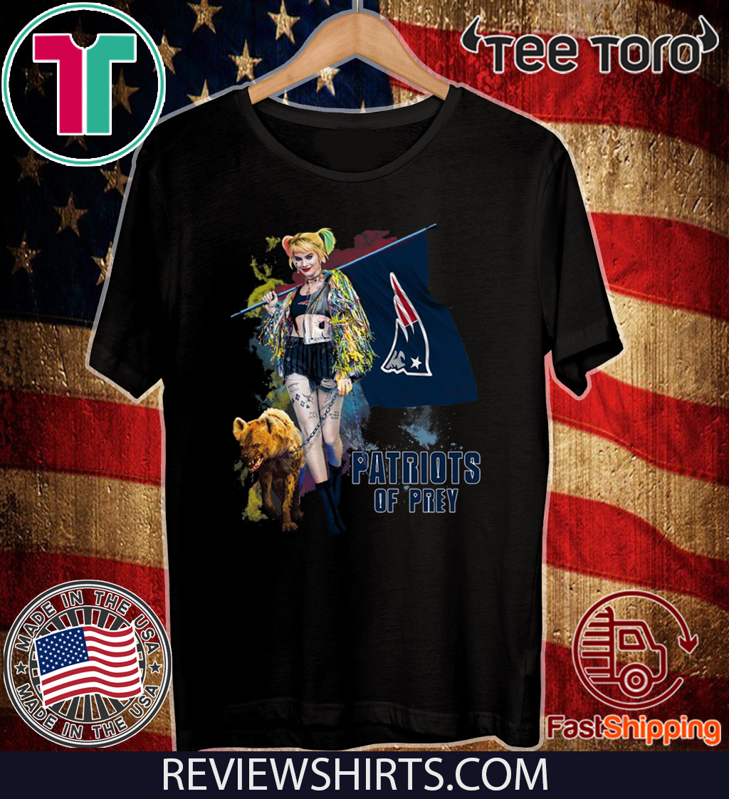 Harley Quinn New England Patriots Of Prey For T-Shirt