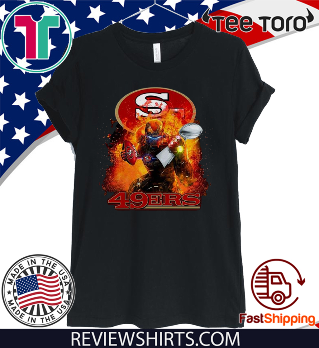 Ironman San Francisco 49ers Super Bowl Champion Official T-Shirt