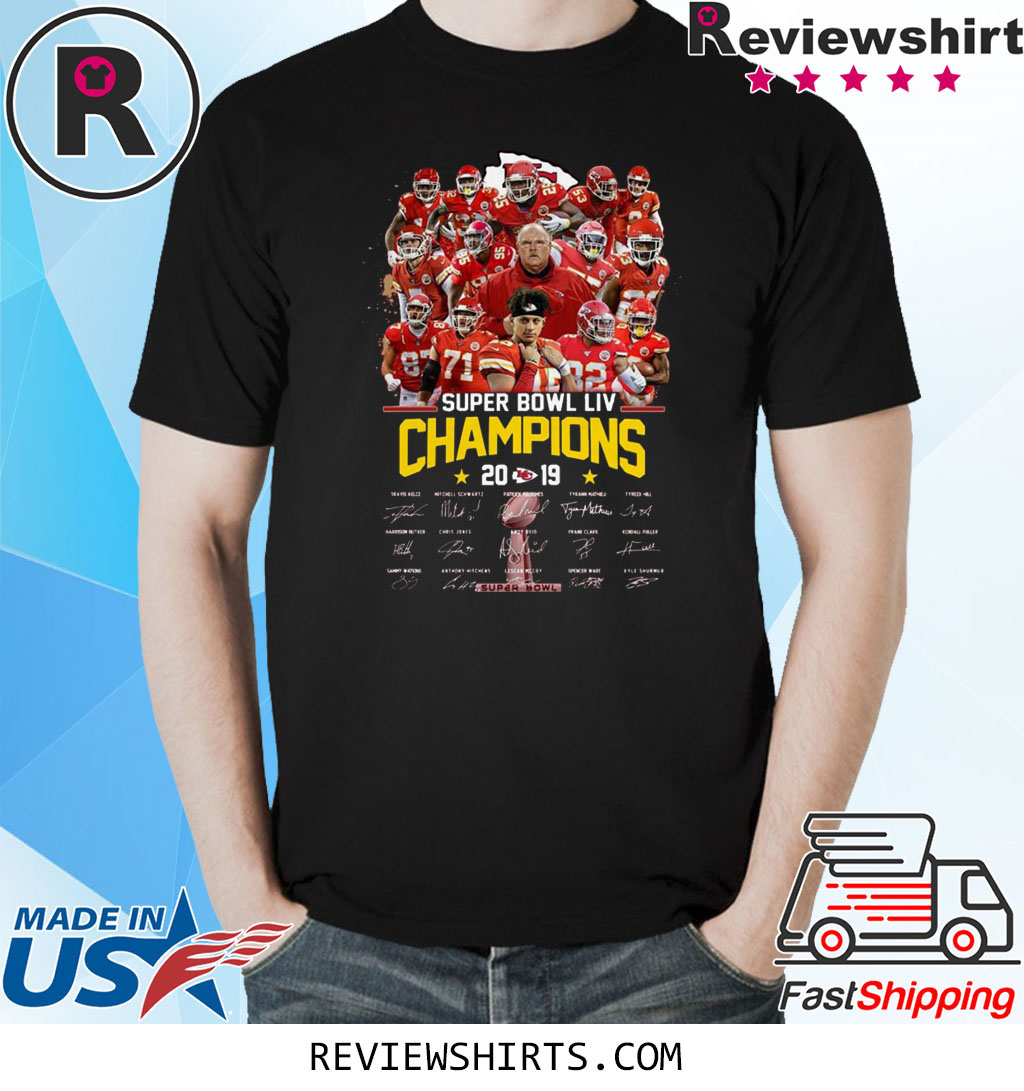 Kansas City Chiefs Super Bowl LIV Champions Signatures 2020 T-Shirt