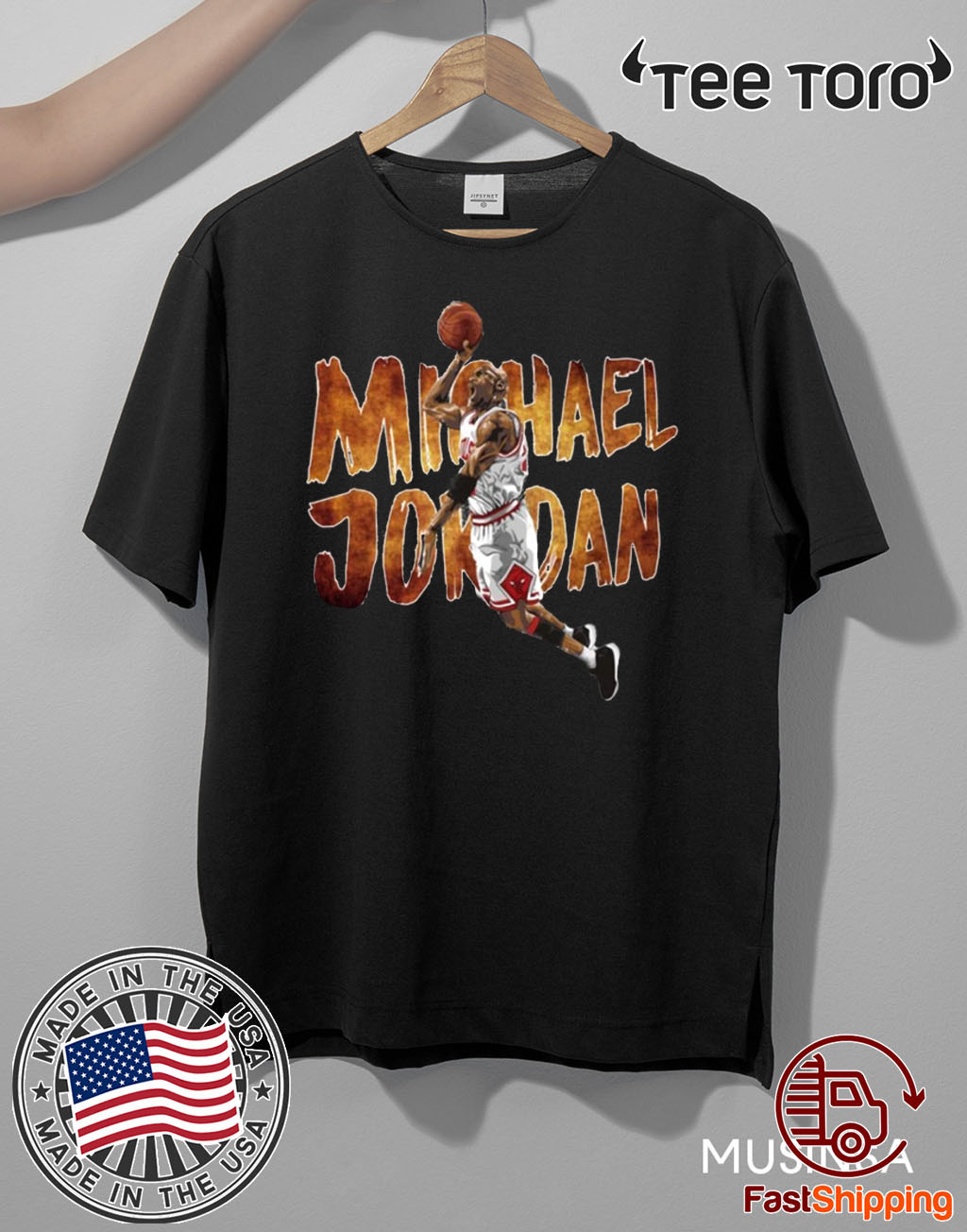 Michael Jordan Tee Shirt Basketball Legend