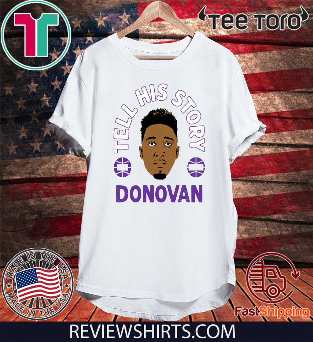 TELL HIS STORY SHIRT - DONOVAN MITCHELL - UTAH JAZZ T-SHIRT