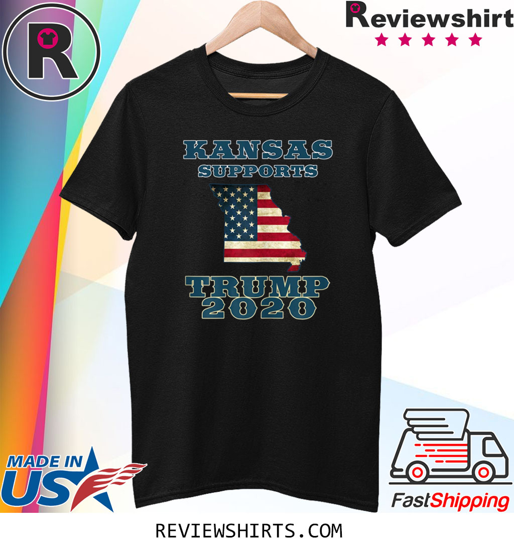 The Great State of Kansas Supports Trump 2020 Tee Shirt